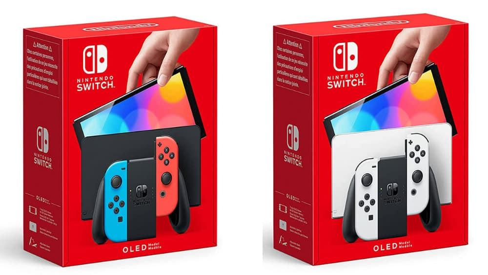 Nintendo Switch OLED Modell in Neon-Blau/Neon-Rot und Weiß | ab Oktober 2021 – Update8
