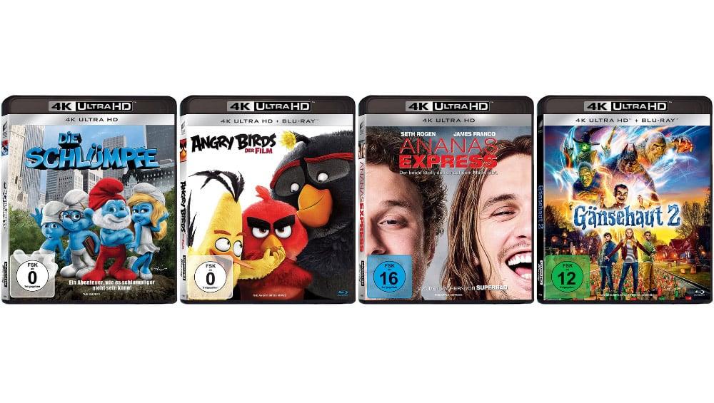 Diverse Filme auf 4K UHD jeweils zwischen 7,99€ und 8,99€ – unter anderem: Die Schlümpfe 4K UHD für 7,99€