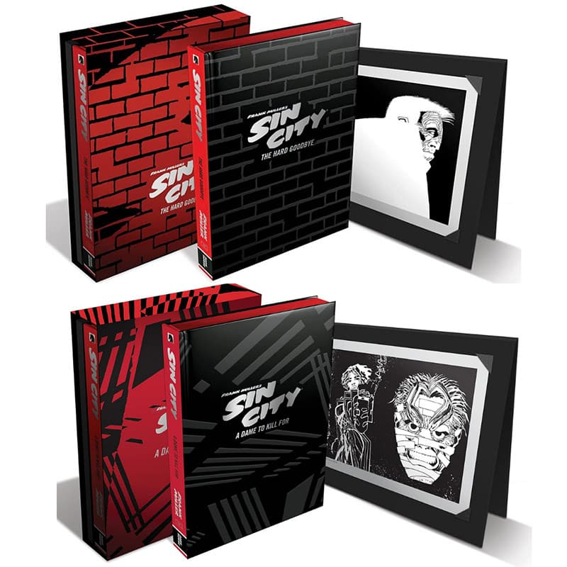 """Frank Miller's Sin City: """"Volume 1: The Hard Goodbye"""", """"Volume 2: A Dame to Kill For"""" & """"Volume 3: The Big Fat Kill"""" ab Oktober/Dezember jeweils als Deluxe Edition"""