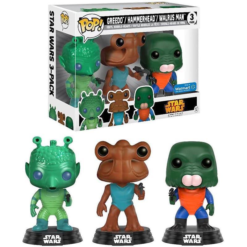 Funko POP! Star Wars 3er-Pack Greedo, Hammerhead, Walrus Man für 22,94€