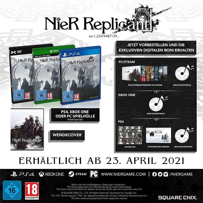 """""""NieR Replicant ver.1.22474487139"""" für die Playstation 4, Xbox One/ Series X und den PC für je 34,99€"""
