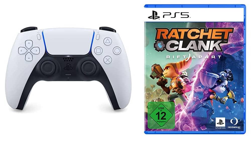 DualSense Wireless Controller + Ratchet & Clank: Rift Apart [PlayStation 5] für 99,99€