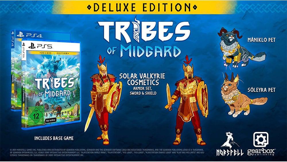 """""""Tribes of Midgard"""" in der Deluxe Edition für die Playstation 4/5 für je 29,99€"""