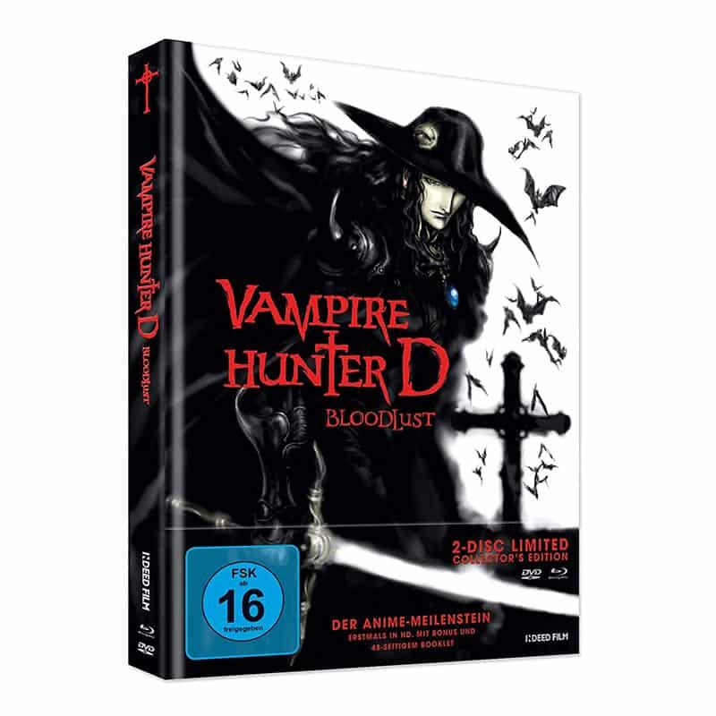 """Vampire Hunter D: Bloodlust"" im Blu-ray Mediabook (inkl. DVD) für 16,99€"