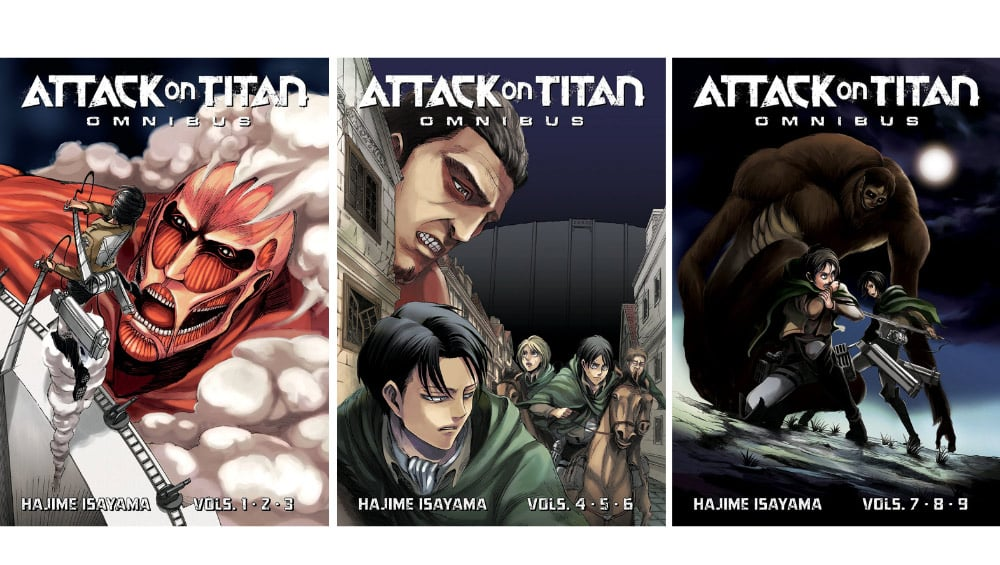 """""""Attack on Titan"""" demnächst als 3-in-1 Omnibus Ausgaben"""