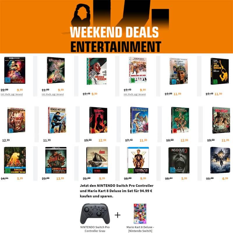 Entertainment Weekend Deals – unter anderem mit: Steelbooks für je 5,99€ und Mediabooks ab 11,99€