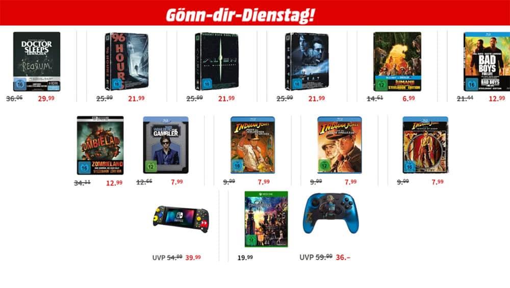 """Gönn-dir-Dienstag Aktion – unter anderem mit: """"Bad Boys for Life"""" oder """"Zombieland"""" im Steelbook für je 12,99€"""