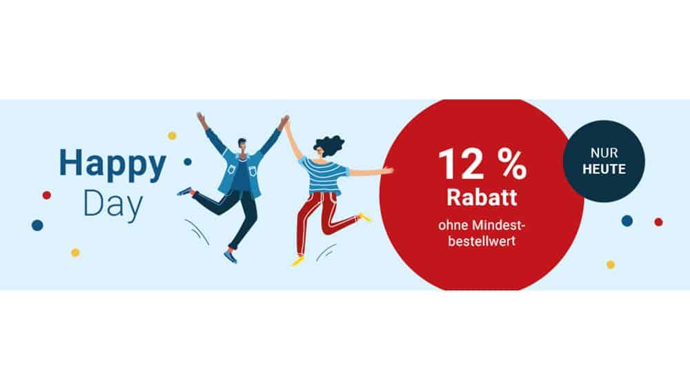 12% Happy Day-Rabatt bei Medimops auf gebrauchte Ware