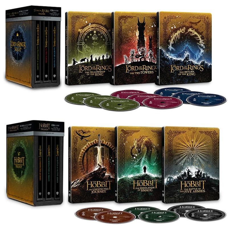 """""""Der Hobbit"""" Die Trilogie im 4K Steelbook Set für 89,99€ & """"Der Herr der Ringe"""" Die Trilogie im 4K Steelbook Set für 86,99€ (Italien)"""