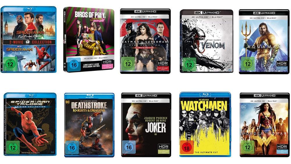 Superheldenfilme auf DVD und Blu-ray reduziert bei Amazon – unter anderem mit: 4K UHDs ab 12,97€