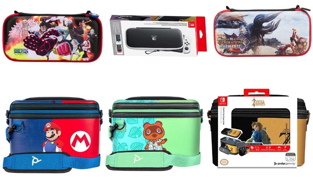Verschiedene Tragetaschen & Schutzhüllen für Nintendo Switch & Switch Lite