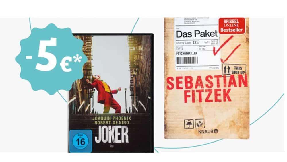 5€ Rabatt auf Filme, Games, Musik & Bücher ab 25€ Bestellwert bei Rebuy