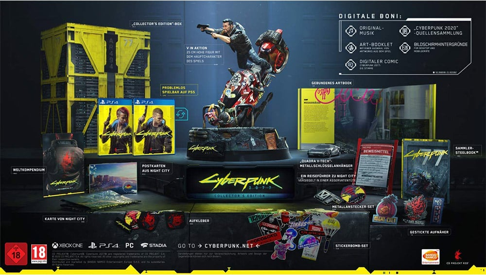 """""""Cyberpunk 2077"""" in der Collectors Edition für die Playstation 4 für 129,99€"""
