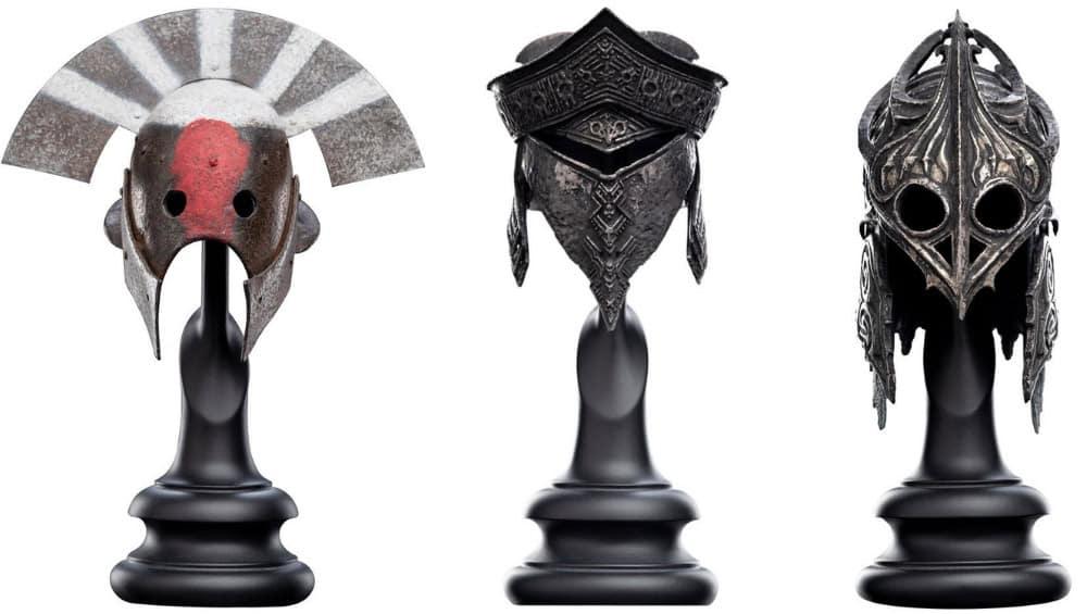 "Der Hobbit: ""Ringwraith of Khand"" & ""Harad"" Helm Replik – Herr der Ringe: ""Uruk-hai"" Helm Replik im 1/4 Format von Weta"