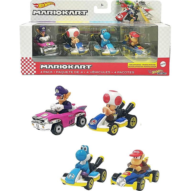 "Hot Wheels ""Mario Kart-Fahrzeug Set"" im 4er-Pack | ab Oktober 2021"