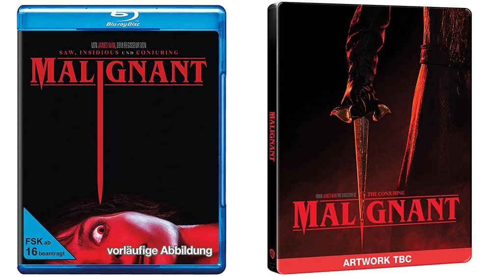 """""""Malignant"""" in den Standard Varianten auf Blu-ray und DVD – Blu-ray Steelbook (UK/ES) ab 4. Quartal 2021"""