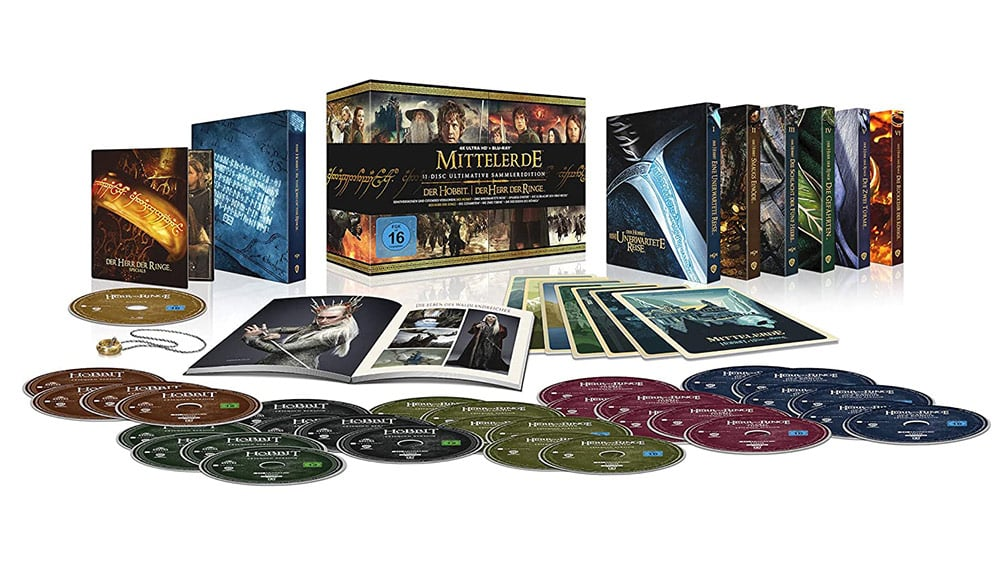 """""""Mittelerde Collection"""" Ultimate Collectors Edition (4K UHD & Blu-ray) (DE/ FR/ US) 