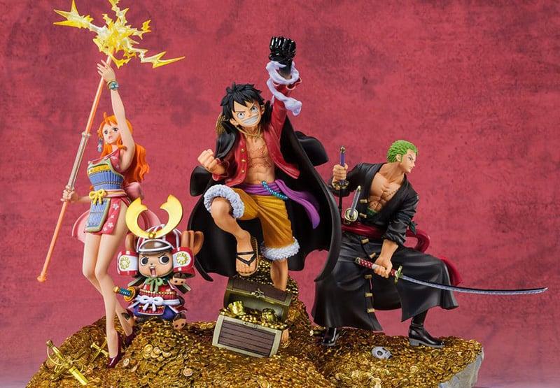 """One Piece FiguartsZERO Statue """"Roronoa Zoro, Monkey D. Luffy, Nami"""" von Tamashii Nations"""
