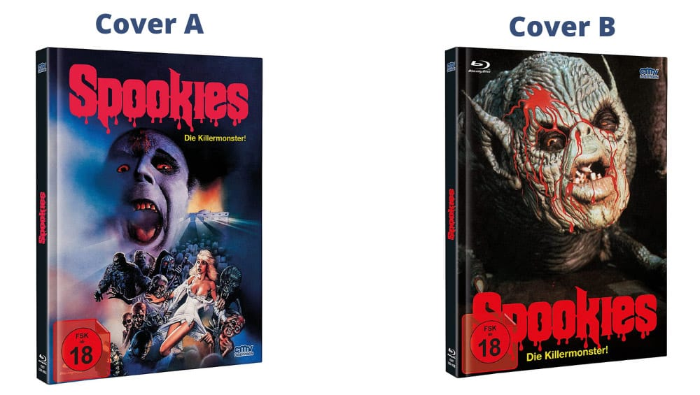 """""""Spookies – Die Killermonster"""" ab November 2021 in 2 Blu-ray Mediabooks – Update"""