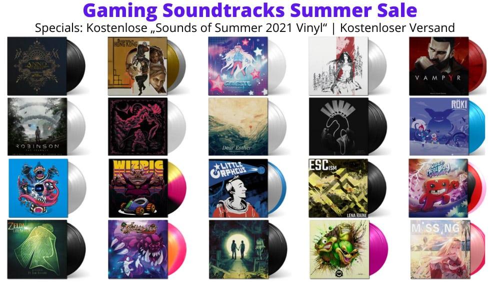 """Black Screen Records Summer Sale – Kostenlose """"Sounds of Summer 2021 Vinyl"""" & Kostenloser Versand ab 10€ Bestellwert sowie Sale- und Restock-Artikel"""