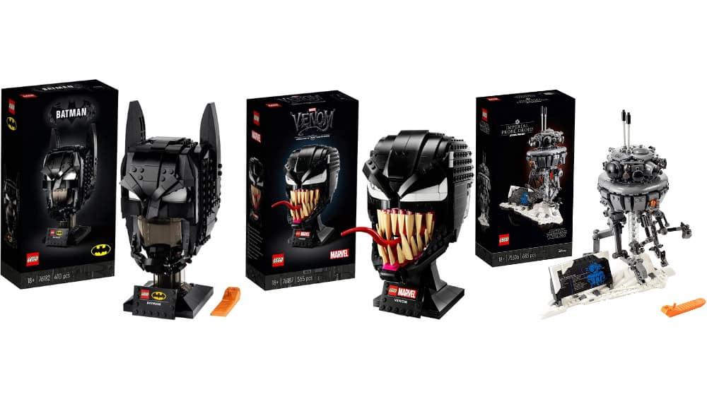 """Lego Sets reduziert bei Amazon – unter anderem mit: """"Marvel Spider-Man Venom Mask"""" für 38,39€ oder """"Batman Helmet"""" für 36,79€"""