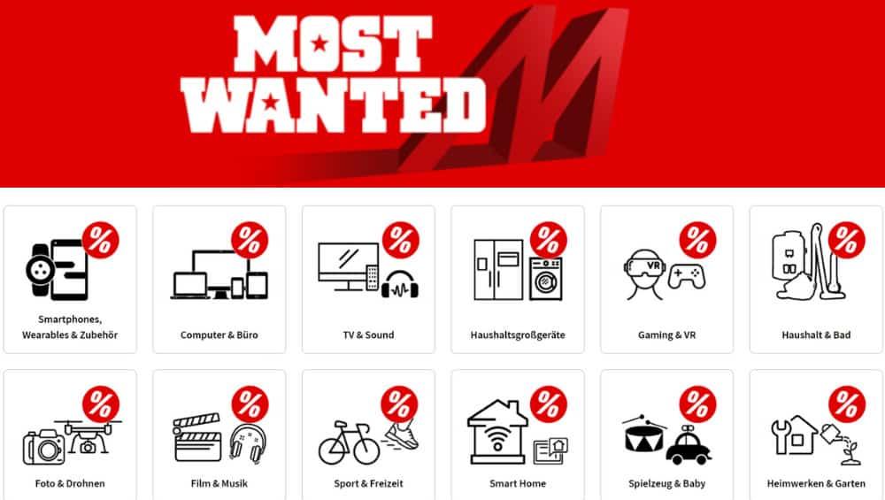 MediaMarkt Most Wanted & Restposten Angebote aus verschiedenen Kategorien