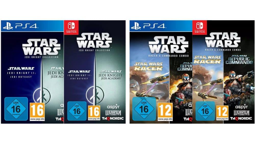"""""""Star Wars Jedi Knight Collection"""" und """"Star Wars Racer + Star Wars Republic Commando"""" jeweils für die Playstation 4 und Nintendo Switch – Update"""