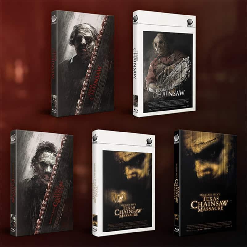 """""""Texas Chainsaw 2D (2013)"""" & """"Michael Bay's Texas Chainsaw Massacre"""" jeweils in verschiedenen Hartbox Varianten (Blu-ray)"""