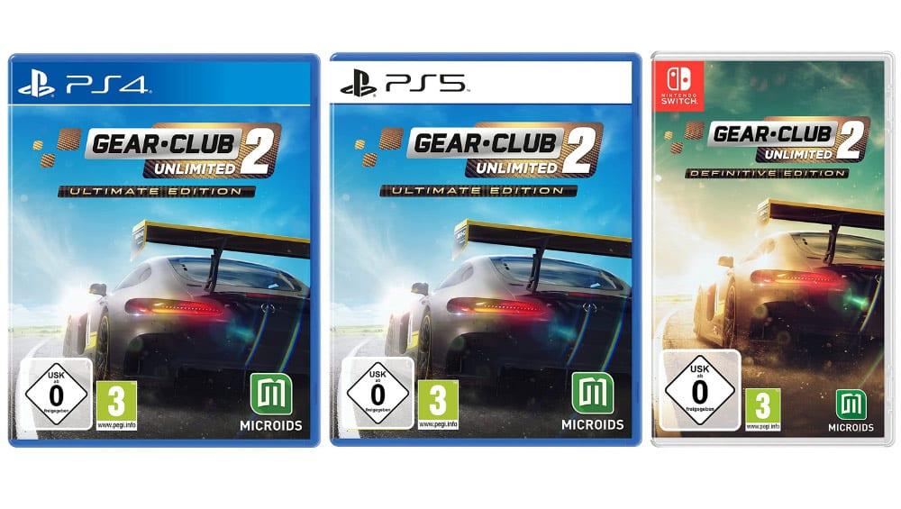 """Gear.Club Unlimited 2"" ab November 2021 als Ultimate Edition für die Playstation 4/5"