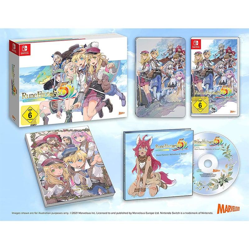 """""""Rune Factory 5"""" Limited Edition inkl. Steelbook ab März 2022 für die Nintendo Switch"""
