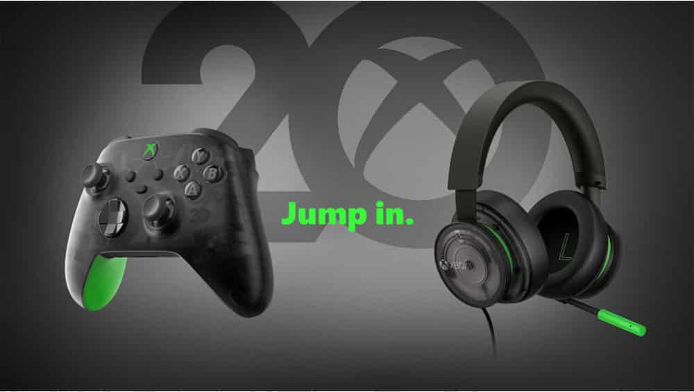 """""""Xbox Stereo-Headset"""" & """"Wireless Controller"""" jeweils in der 20th Anniversary Special Edition – Update"""