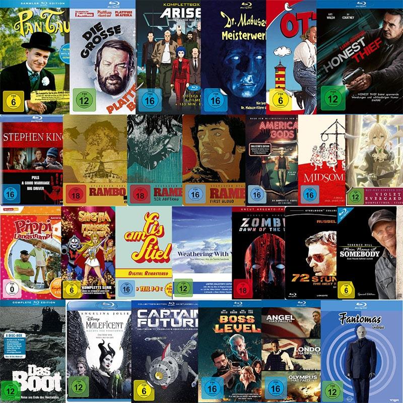 Blu-rays & DVDs reduziert bei Amazon – unter anderem: reduzierte Box-Sets
