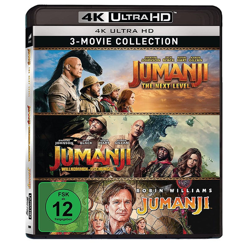 """Jumanji"" 3-Film 4K UHD Set für 21,32€"